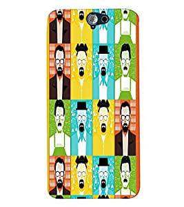PrintVisa Corporate Print & Pattern Faces Man 3D Hard Polycarbonate Designer Back Case Cover for HTC One A9