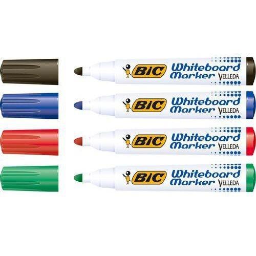 Bic Velleda 1701 Whiteboard Marker Bullet Tip Line Width 1.5mm Assorted Ref 927259 [Pack 48]