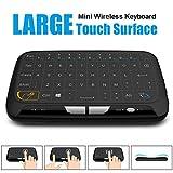 Simcast S-h18Panneau complet Touchpad et mini clavier sans fil 2,4GHz, portatif avec Touchpad souris à distance pour Android TV Box, Windows PC, HTPC, IPTV, Raspberry Pi, Xbox 360, PS3, PS4,