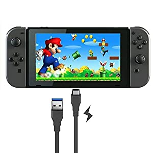Orzly Type C Charging Cable Compatible With Nintendo Switch Game Pad - (USB TypeC To Standard USB) - BLACK 1M Power Cable for Nintendo Switch Tablet