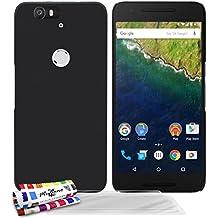 Muzzano F2655586 - Funda para Google/Huawei Nexus 6P + 3 protecciones de pantalla, color negro