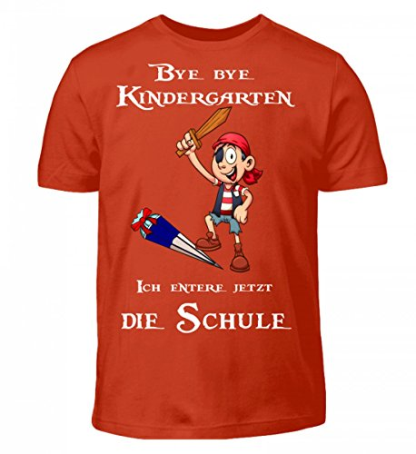 (Hochwertiges Kinder T-Shirt - Einschulungs Shirt für Jungen und Mädchen, Kinder T-Shirt - Kleiner Pirat)
