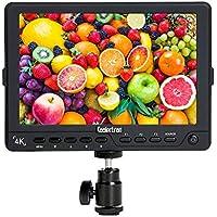Koolertron 7 Pouces 4K Moniteur de Contrôle écran Vidéo HDMI IPS 1920x1200 HD LCD Numérique Ultra Mince, Rétro-éclairage LED, Large Angle de Vue pour Canon Nikon Sony DSLR Appareil photo Reflex Caméscope
