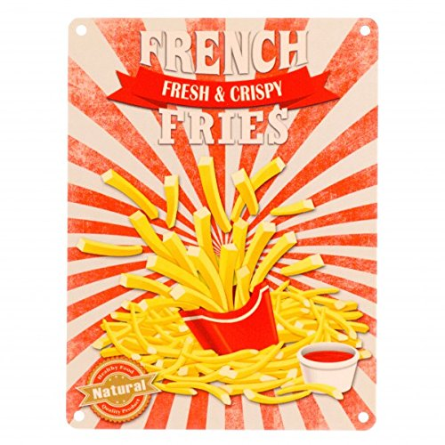 Das Fast Food French Fries Metallschild in 15x20 cm