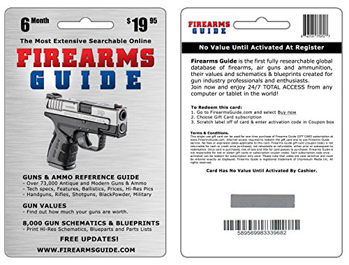 6 Month Firearms Guide 8th Edition ONLINE with Gun Values and free updates