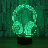 Best Musique Ecouteurs Etanches - Illusion 3D Veilleuses, Écouteurs Moderne LED Table Lampes Review