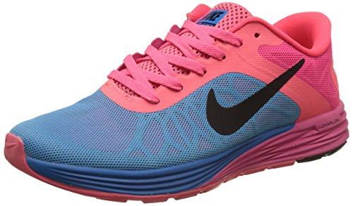 Nike Men's Lunarglide 6 Black/Pink/Blue Running Shoes - 9 UK/India (44 EU)(10 US)(655433-600)  available at amazon for Rs.4998