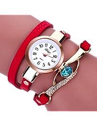 77ae85e14bec Cristal Elegante Mujer Reloj Analógico de Cuarzo Dial