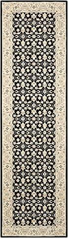 Nourison Teppich Mondrian 99446271624–Schwarz maschinengefertigter Teppich, schwarz, 2ft 3Zoll x 8ft