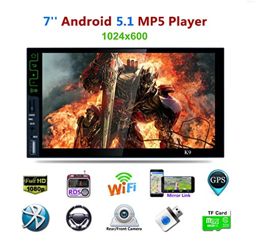 Z-SGYX 7 '' Android 5,1 Musik Touchscreen 1080 p doppel din autoradio Stereo Audio mp5 Player unterstützung Spiegel link/WiFi/Bluetooth/GPS car Player (Doppel-din Touch Screen Car Stereo)