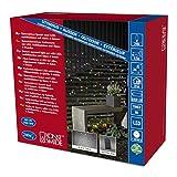 Konstsmide 3726-500 LED Lichterkette / für Außen (IP44) /  Batteriebetrieben: 4xD 1.5V (exkl.) / 6h-Timer / mit 8 Funktionen, Steuergerät und Memoryfunktion / 240 bunte Dioden / schwarzes Kabel