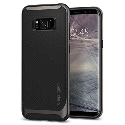Spigen 565CS21594 Neo Hybrid für Samsung Galaxy S8 Hülle, Zweiteilige Handyhülle Modische Muster Silikon & PC Rahmen Schutzhülle Case Gunmetal