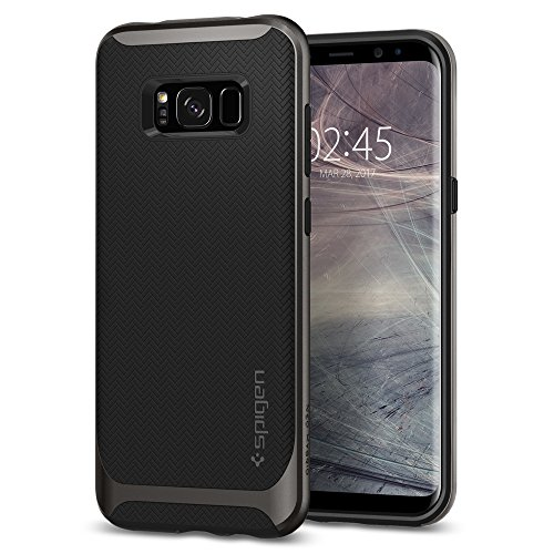Spigen 571CS21646 - Custodia Neo Hybrid per Galaxy S8 Plus, Grigio (Gunmetal)