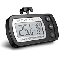 Thermomètre numérique pour réfrigérateur, thermomètre étanche pour congélateur avec crochet, affichage ACL facile à lire…