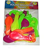 Pack Of 30 Round Neon Balloons