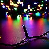 CroLED Cadena de luz Iluminación Tira Hilo Impermeable 200 LEDs Bombillas 30M Luz RGB Lámpara para Fiesta Navidad Fiestas de boda Jardín Decoración del árbol Exterior Discoteca(Luz de Multicolor) Cumpleaño