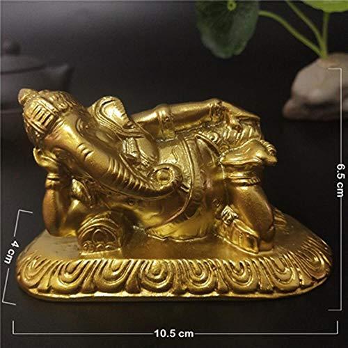 ETHAN Goldene Lügen Lord Ganesha Statue Buddha Elefantengott Skulpturen Harz Handwerk Ornamente Hausgarten Buddha Dekoration Statuen. Gold