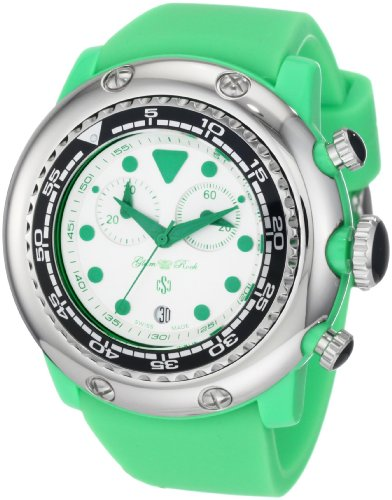 Glam Rock Miami Beach GR20131 50mm Plastic Case Green Silicone Mineral Men's Watch