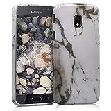 kwmobile Funda para Samsung Galaxy J5 (2017) DUOS - Carcasa de [TPU] para móvil y diseño de mármol clásico en [Blanco/Negro]