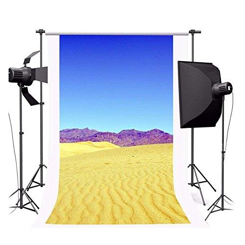 cdhbh 3x 150Poly Innen Fotografie Hintergrund Nahtlose Hintergrund Verschiedenen Szenen Blau Himmel und der Wüste -