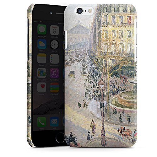 Apple iPhone 5 Housse Étui Silicone Coque Protection Camille Pissarro The Avenue de L'Opera Art Cas Premium brillant