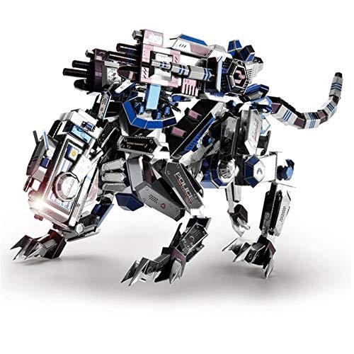ers - mechanisches Hundemetall zusammengebautes Puzzlespielspielzeuggeschenk DIY 3D Laser-Puzzle spielt Geschenk / Mehrfarben + Werkzeuge A + B / one Size ()