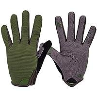 DEI QI Deportes al Aire Libre Guantes de equitación Verano Completamente Delgadas Resbalón Resistente al Desgaste Hombres y Mujeres Protección Solar Escalada (Color : Military Green, Size : XL)