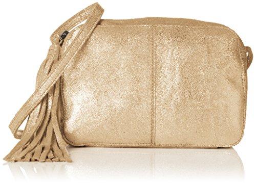 PIECES Damen Pcmylisia Leather Cross Over Bag Umhängetasche, 4x13x19 cm
