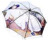 Stockschirm Goethe | Automatik Regenschirm mit Kunstmotiv und Fiberglas-Rahmen | Ausgefallen, Sturmsicher und Winddicht inkl. Schlaufe zum Umhängen