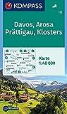 KOMPASS Wanderkarte Davos, Arosa, Prättigau, Klosters: Wanderkarte. GPS-genau. 1:40000: Wandelkaart 1:40 000 (KOMPASS-Wanderkarten, Band 113) -