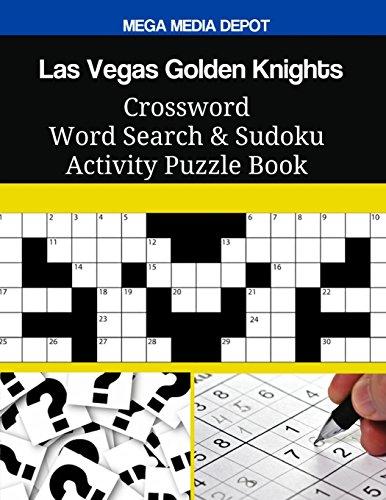 Las Vegas Golden Knights Crossword Word Search & Sudoku Activity Puzzle Book por Mega Media Depot