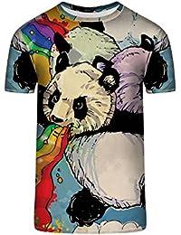 TrendClub100 Guru Shirt Ravender Regenbogen Panda