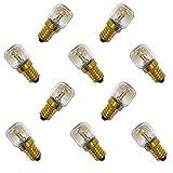 10 x Backofenlampe 300° 15W E14 klar Glühbirne Glühlampe Nähmaschine Salzstein Salzlampe PYGMY T26 Röhre warmweiß dimmbar 15 Watt