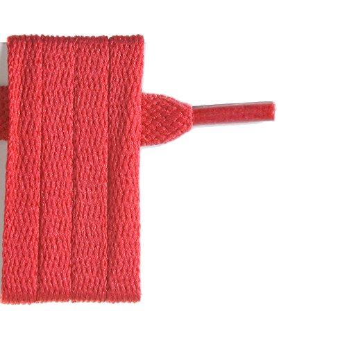 Lacets rouges plat pour chaussures 120 cm