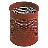 V-Part Papierkorb aus Metall perforiert 15 Liter, rot