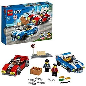 LEGO City Arresto su Strada della Polizia, Set con 2 Macchine Giocattolo e 2 Minifigure, Giochi per Bambini di 5+ Anni… 5702016617566 LEGO