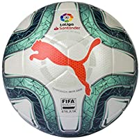 Puma LaLiga 1 (FIFA Quality) Balón de Fútbol, Unisex Adulto, Gris White-Green Glimmer-Nrgy Red, 5