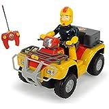 Sam El Bombero - Coche con función turbo, color rojo / amarillo (Dickie 3099613)