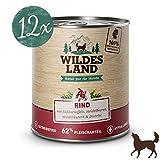 Wildes Land | Rind mit Süßkartoffeln, Heidelbeeren, Wildkräutern und Distelöl (getreidefrei) | 12 x 800 g