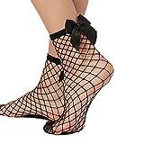 Libella 2er Pack Damen Netz Socken Strumpfhose ein echter Hingucker Strumpfhosen-Trend mit Schleife 27223