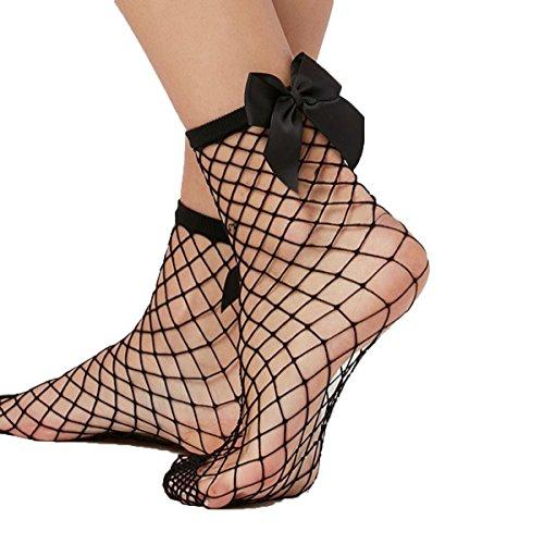 Libella 2er Pack Damen Netz Socken Strumpfhose ein echter Hingucker Strumpfhosen-Trend mit Schleife...