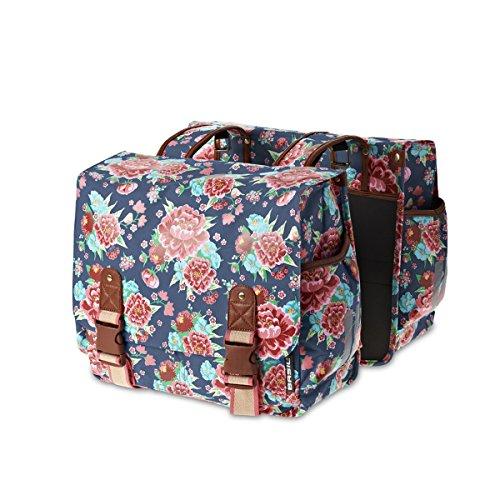 BASIL Bloom Doublebag 35L Fahrradtasche Damentasche Doppeltasche Bike Tasche Indigo Blue