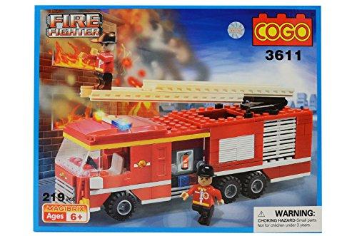 costruzioni fire fighter 219pz cogo compatibili - mazzeo giocattoli