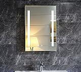 Dr. Fleischmann LED-Beleuchtung Badspiegel GS055 Lichtspiegel Wandspiegel mit Touch-Schalter 50x70cm...