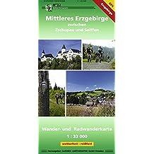 Mittleres Erzgebirge zwischen Zschopau und Seiffen: Wander- und Radwanderkarte GPS-fähig, wetterfest, reißfest, 1:33 000
