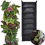 vertikale pflanztasche mit 7 f chern f r garten balkon und hauspflanzen k che. Black Bedroom Furniture Sets. Home Design Ideas