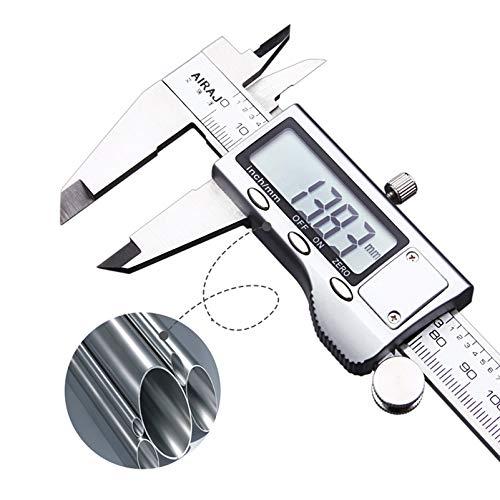 Anlin 15,2cm/150mm Digitaler Messschieber Mess-Werkzeug Elektronische Edelstahl Wasserdicht Gauge Mikrometer Lineal