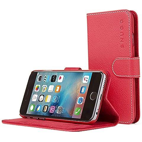 Coque iPhone 6s, Snugg™ - Étui à Rabat de type Flip Cover / Smart Case En Cuir Rouge Avec Garantie À Vie Pour Apple iPhone 6s