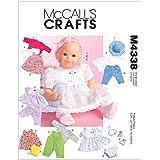 McCall's Patterns m4338Patrons de vêtements pour poupée, Lot de 1, Blanc