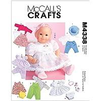McCalls 4338 - Patrón para confeccionar ropa de muñecas (varios modelos, tallas 28-33 y 34-41 cm) [en inglés y alemán]